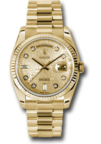Rolex Watches - Day-Date President Yellow Gold - Fluted Bezel - President - Style No: 118238 chjdp