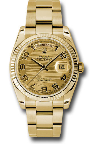 Rolex Watches - Day-Date President Yellow Gold - Fluted Bezel - Oyster - Style No: 118238 chwao