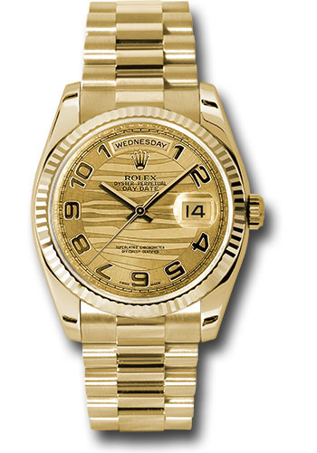 Rolex Watches - Day-Date President Yellow Gold - Fluted Bezel - President - Style No: 118238 chwap