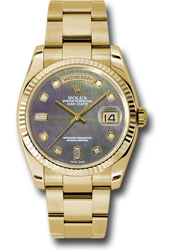 Rolex Watches - Day-Date President Yellow Gold - Fluted Bezel - Oyster - Style No: 118238 dkmdo