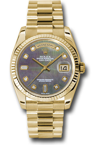 Rolex Watches - Day-Date President Yellow Gold - Fluted Bezel - President - Style No: 118238 dkmdp