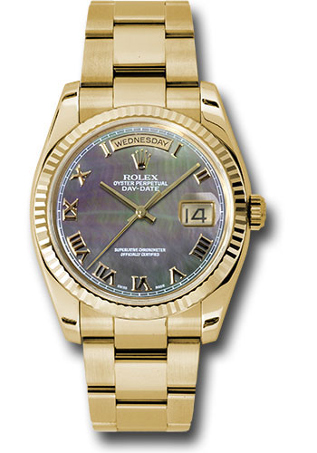 Rolex Watches - Day-Date President Yellow Gold - Fluted Bezel - Oyster - Style No: 118238 dkmro