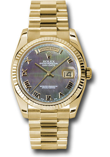 Rolex Watches - Day-Date President Yellow Gold - Fluted Bezel - President - Style No: 118238 dkmrp