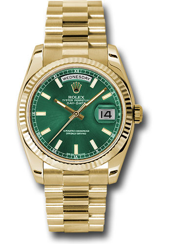 Rolex Watches - Day-Date 36 Yellow Gold - Fluted Bezel - President - Style No: 118238 grip