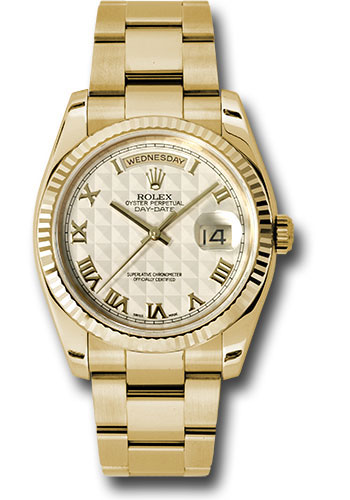 Rolex Watches - Day-Date President Yellow Gold - Fluted Bezel - Oyster - Style No: 118238 ipro