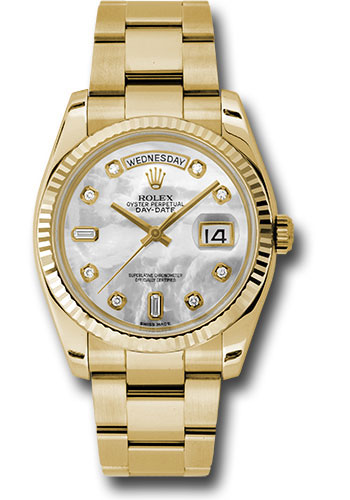 Rolex Watches - Day-Date President Yellow Gold - Fluted Bezel - Oyster - Style No: 118238 mdo