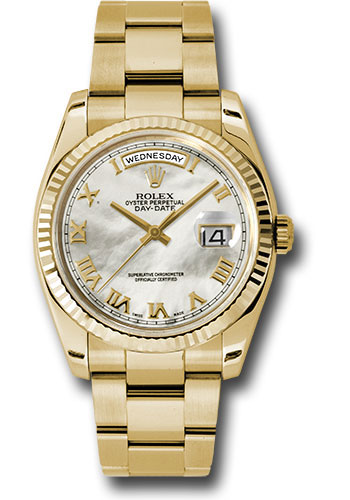 Rolex Watches - Day-Date President Yellow Gold - Fluted Bezel - Oyster - Style No: 118238 mro