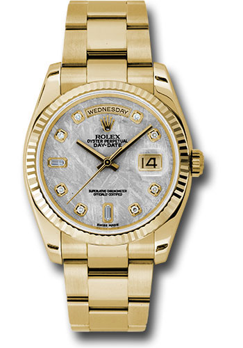 Rolex Watches - Day-Date President Yellow Gold - Fluted Bezel - Oyster - Style No: 118238 mtdo