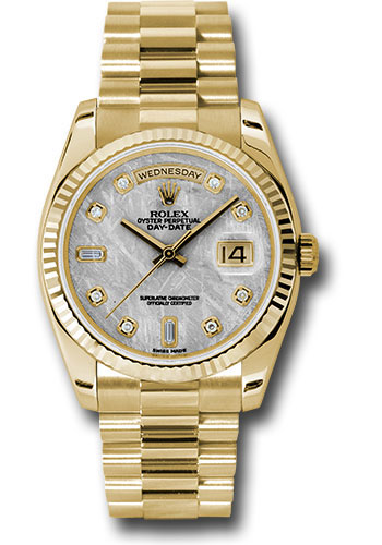 Rolex Watches - Day-Date President Yellow Gold - Fluted Bezel - President - Style No: 118238 mtdp