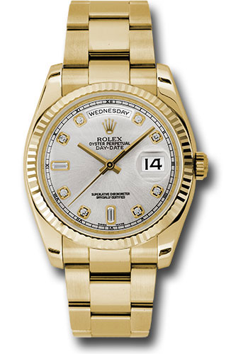 Rolex Watches - Day-Date President Yellow Gold - Fluted Bezel - Oyster - Style No: 118238 sdo