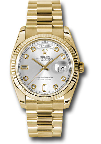 Rolex Watches - Day-Date President Yellow Gold - Fluted Bezel - President - Style No: 118238 sdp