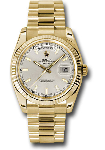 Rolex Watches - Day-Date President Yellow Gold - Fluted Bezel - President - Style No: 118238 sip