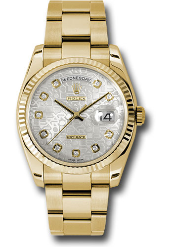 Rolex Watches - Day-Date President Yellow Gold - Fluted Bezel - Oyster - Style No: 118238 sjdo