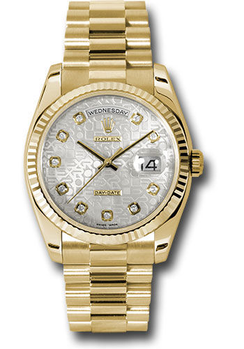 Rolex Watches - Day-Date President Yellow Gold - Fluted Bezel - President - Style No: 118238 sjdp