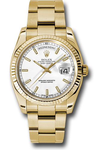 Rolex Watches - Day-Date President Yellow Gold - Fluted Bezel - Oyster - Style No: 118238 wso