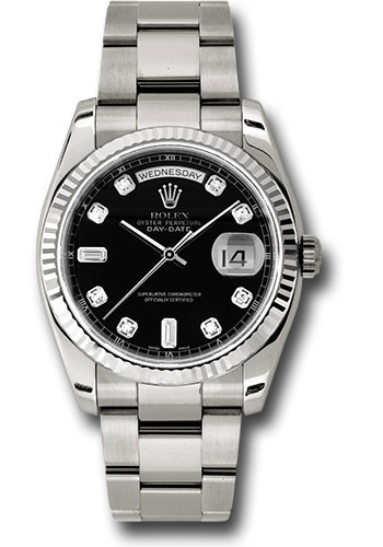 Rolex Watches - Day-Date 36 White Gold - Fluted Bezel - Oyster - Style No: 118239 bkdo