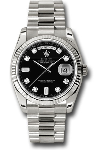 Rolex Watches - Day-Date President White Gold - Fluted Bezel - President - Style No: 118239 bkdp