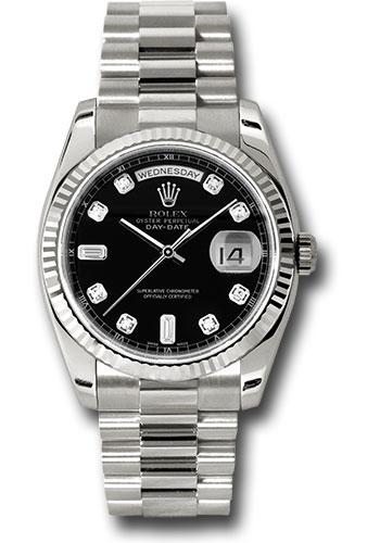 Rolex Day Date President White Gold Fluted Bezel President