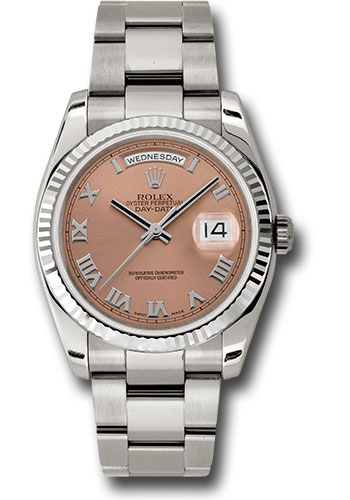 Rolex Watches - Day-Date 36 White Gold - Fluted Bezel - Oyster - Style No: 118239 cro