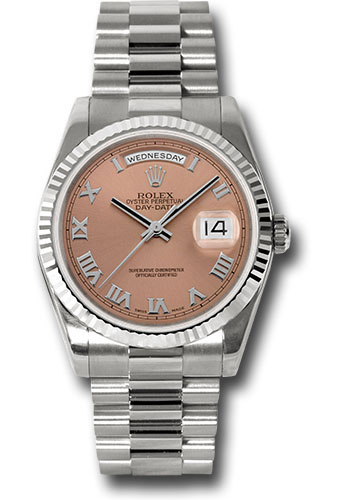 Rolex Watches - Day-Date President White Gold - Fluted Bezel - President - Style No: 118239 crp