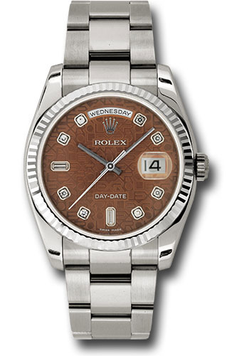 Rolex Watches - Day-Date President White Gold - Fluted Bezel - Oyster - Style No: 118239 hbjdo