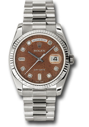 Rolex Watches - Day-Date President White Gold - Fluted Bezel - President - Style No: 118239 hbjdp