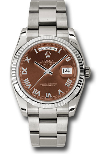 Rolex Watches - Day-Date President White Gold - Fluted Bezel - Oyster - Style No: 118239 hbro
