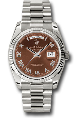 Rolex Watches - Day-Date President White Gold - Fluted Bezel - President - Style No: 118239 hrp