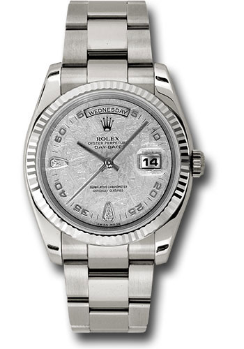 Rolex Watches - Day-Date President White Gold - Fluted Bezel - Oyster - Style No: 118239 mtado