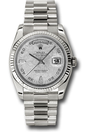 Rolex Watches - Day-Date President White Gold - Fluted Bezel - President - Style No: 118239 mtadp