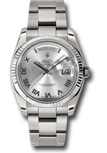 Rolex Watches - Day-Date President White Gold - Fluted Bezel - Oyster - Style No: 118239 rro