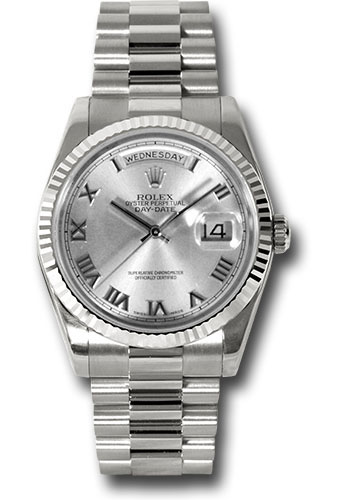 Rolex Watches - Day-Date President White Gold - Fluted Bezel - President - Style No: 118239 rrp