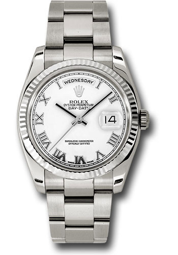 Rolex Watches - Day-Date President White Gold - Fluted Bezel - Oyster - Style No: 118239 wro