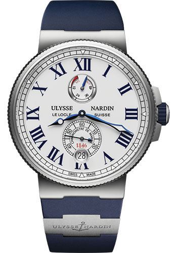 Ulysse Nardin Watches - Marine Chronometer 45mm - Stainless Steel - Rubber Strap - Style No: 1183-122-3/40