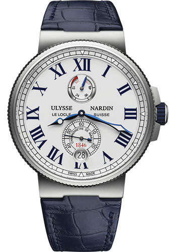 Ulysse Nardin Watches - Marine Chronometer 45mm - Stainless Steel - Leather Strap - Style No: 1183-122/40