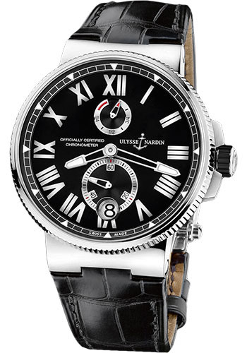 Ulysse Nardin Watches - Marine Chronometer Manufacture 45mm - Stainless Steel - Style No: 1183-122/42