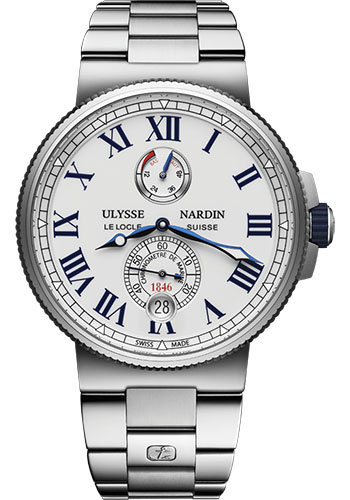 Ulysse Nardin Watches - Marine Chronometer 45mm - Stainless Steel - Bracelet - Style No: 1183-122-7M/40