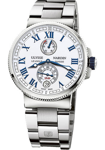 Ulysse Nardin Watches - Marine Chronometer Manufacture 43mm - Steel And Titanium - Bracelet - Style No: 1183-126-7M/40
