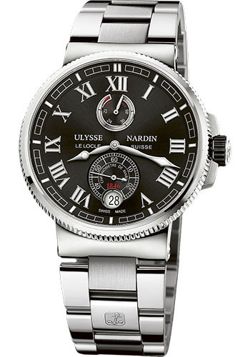 Ulysse Nardin Watches - Marine Chronometer Manufacture 43mm - Steel And Titanium - Bracelet - Style No: 1183-126-7M/42