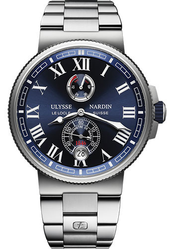 Ulysse Nardin Watches - Marine Chronometer Manufacture 43mm - Steel And Titanium - Bracelet - Style No: 1183-126-7M/43