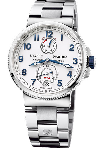 Ulysse Nardin Watches - Marine Chronometer Manufacture 43mm - Steel And Titanium - Bracelet - Style No: 1183-126-7M/60