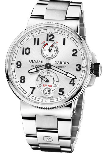 Ulysse Nardin Watches - Marine Chronometer Manufacture 43mm - Steel And Titanium - Bracelet - Style No: 1183-126-7M/61