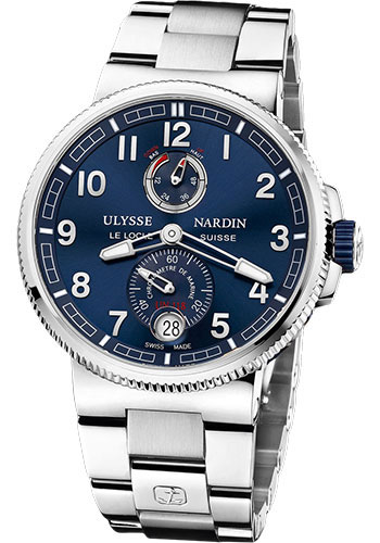 Ulysse Nardin Watches - Marine Chronometer Manufacture 43mm - Steel And Titanium - Bracelet - Style No: 1183-126-7M/63