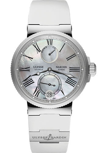 Ulysse Nardin Watches - Marine Chronometer Lady 39mm - Stainless Steel - Rubber Strap - Style No: 1183-160-3/40