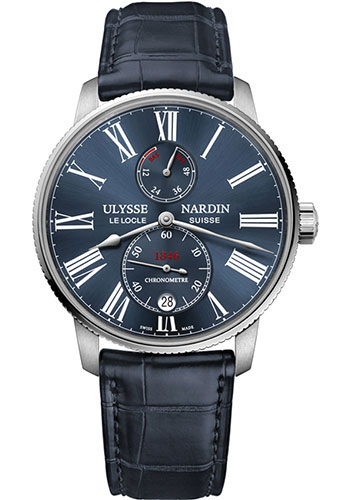 Ulysse Nardin Watches - Marine Chronometer Torpilleur 42mm - Stainless Steel - Leather Strap - Style No: 1183-310/43