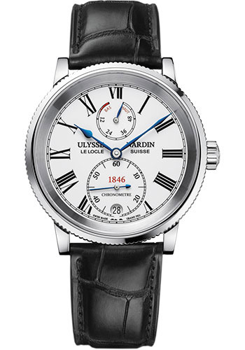 Ulysse Nardin Watches - Marine Chronometer 41mm - Stainless Steel - Leather Strap - Style No: 1183-900/E0