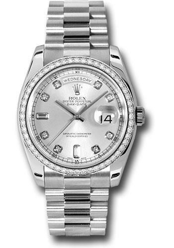 Rolex Watches - Day-Date President Platinum - Dia Bezel - President - Style No: 118346 sdp