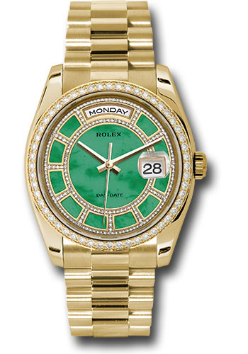Rolex Watches - Day-Date President Yellow Gold - 52 Dia Bezel - President - Style No: 118348 cgjdp