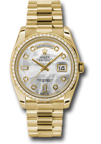 Rolex Watches - Day-Date President Yellow Gold - 52 Dia Bezel - President - Style No: 118348 mdp
