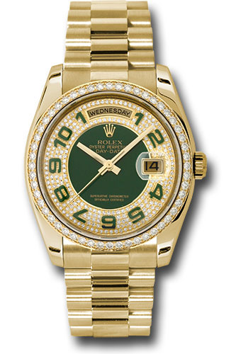 Rolex Watches - Day-Date 36 Yellow Gold - 52 Dia Bezel - President - Style No: 118348 pgap